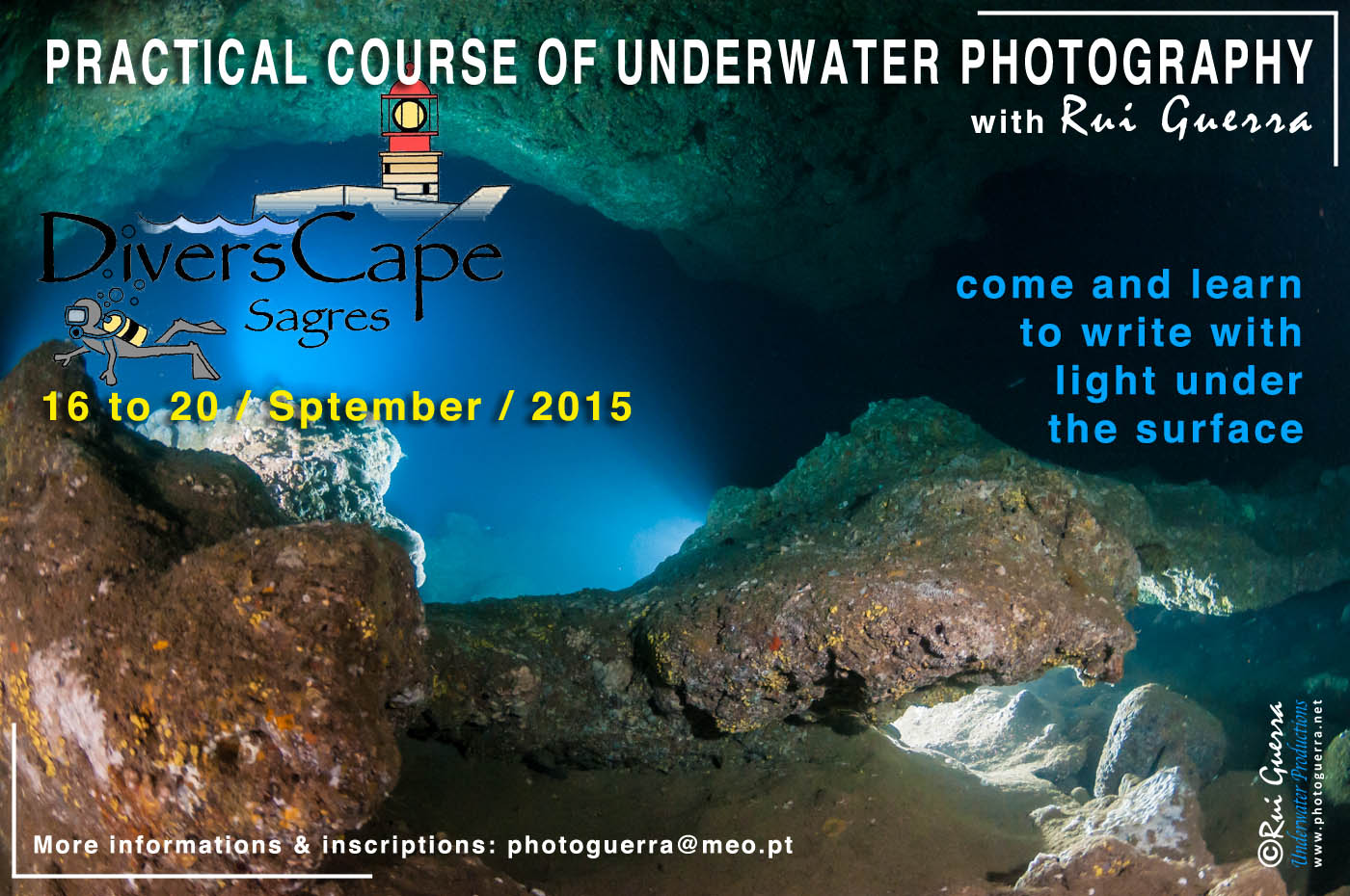 poster course underwater hotography sagres