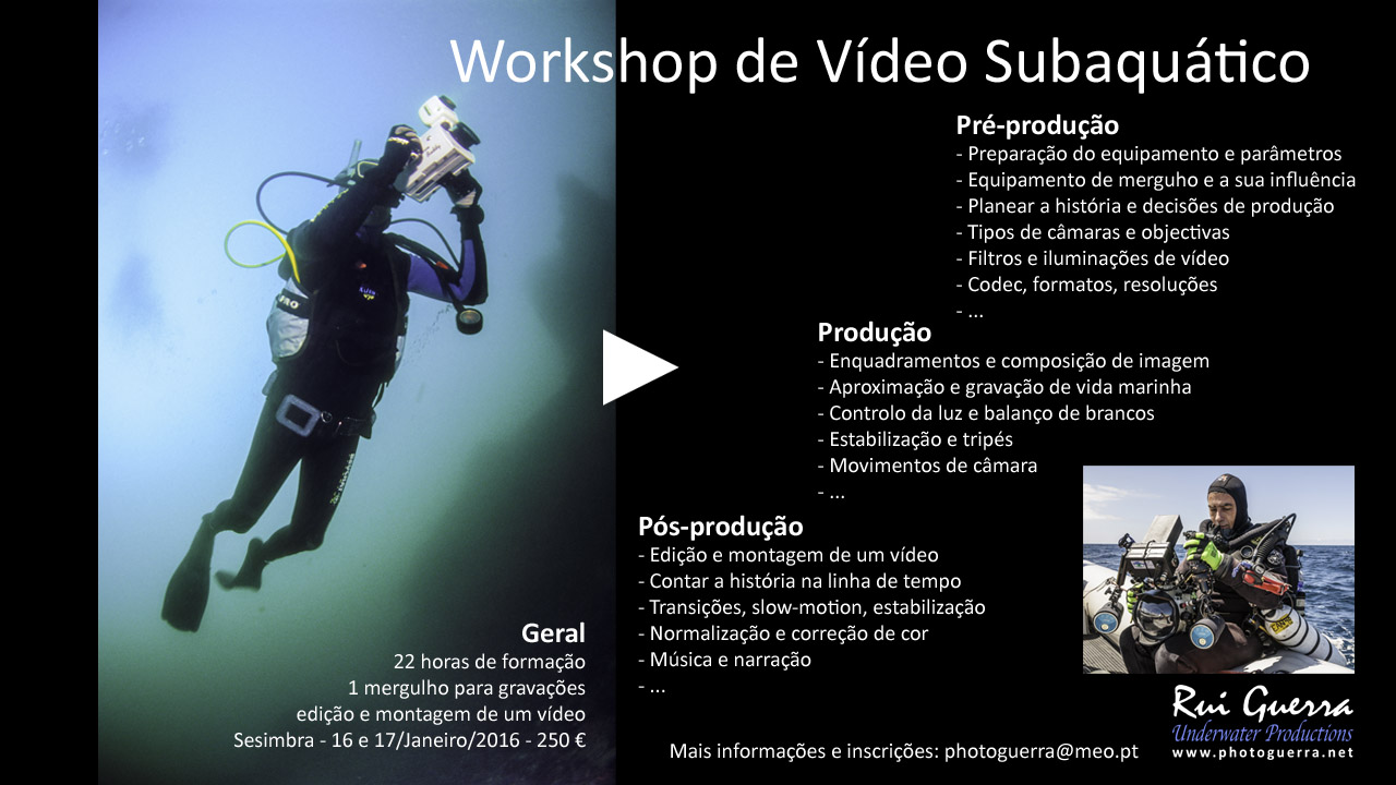 workshop video subaquático